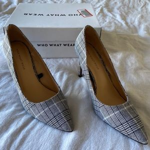 Who What Wear Gingham Heels